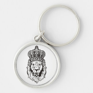 La cabeza del león coronado llaveros
