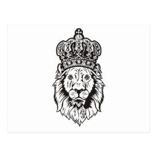 La cabeza del león coronado postal
