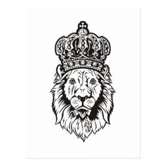 La cabeza del león coronado tarjeta postal