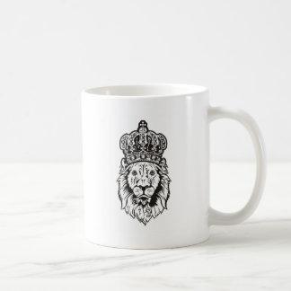 La cabeza del león coronado tazas de café