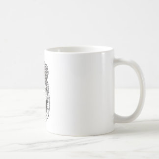 La cabeza del león coronado taza de café