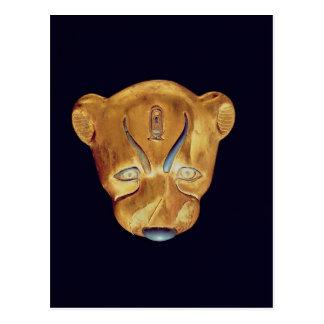 La cabeza del leopardo, de la tumba de Tutankhamun Tarjetas Postales