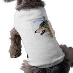 La cabeza del lobo camisas de mascota