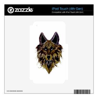 La cabeza del lobo skins para iPod touch 4G