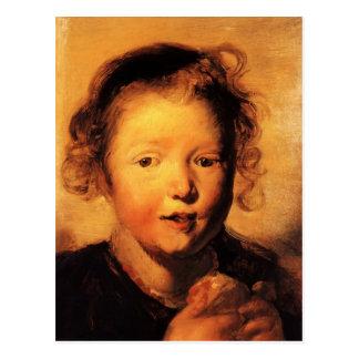 La cabeza del niño de Jacob Jordaens- Tarjetas Postales