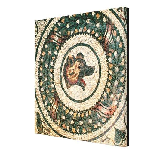 La cabeza del oso, mosaico romano, siglo IV tempra Lona Envuelta Para Galerías