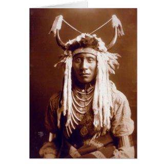 La cabeza lleva (el nativo americano) tarjeta de felicitación