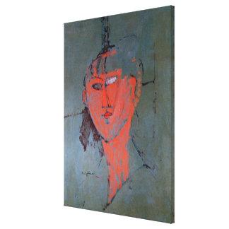 La cabeza roja, c.1915 impresión en lienzo