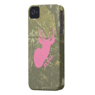 La cabeza rosada y Camo de los ciervos iPhone 4 Cárcasa