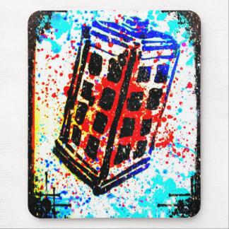 La cabina de teléfono de la caja de llamada I de K Alfombrilla De Ratones