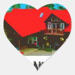 La cabina pegatina corazon