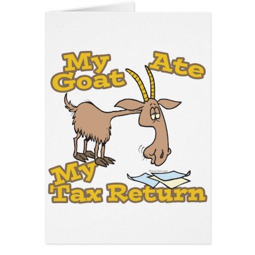 la cabra comió mi dibujo animado de la declaración felicitación
