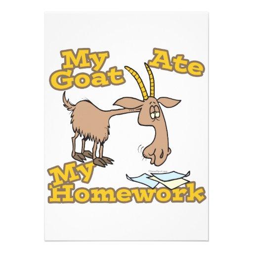 la cabra comió mi dibujo animado divertido de la p comunicado