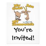 la cabra comió mi dibujo animado divertido de la p comunicados personalizados