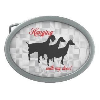 La cabra de la lechería hace la hebilla del hebillas cinturón ovales