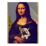 La cabra de Mona Lisa Tarjeta Postal