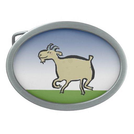 La cabra del baile hebillas de cinturon ovales