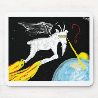 La cabra del espacio alfombrillas de raton