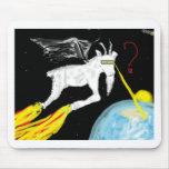 La cabra del espacio tapete de ratón