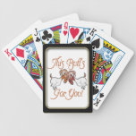 La cabra divertida empalma para usted naipes baraja cartas de poker