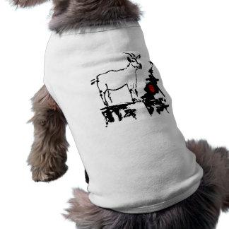 La cabra oscila - 2015 años de la cabra - playera sin mangas para perro