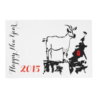 La cabra oscila Año Nuevo chino del cumpleaños de Tapete Individual
