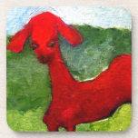 la cabra roja posavasos de bebida