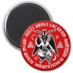 La cabra satánica dirigió Baphomet Imán Redondo 5 Cm