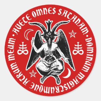 La cabra satánica dirigió Baphomet Pegatinas Redondas