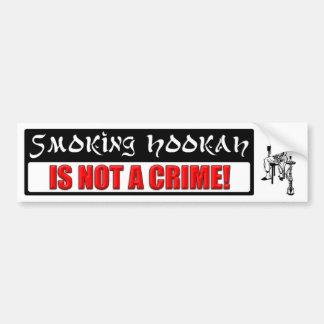 ¡La cachimba que fuma NO ES un CRIMEN! Pegatina Para Auto