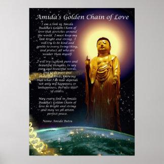 La cadena de oro de Amida del amor 1 Póster