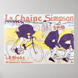 La cadena de Simpson, 1896 Poster