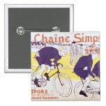 La cadena de Simpson, 1896 Pin Cuadrada 5 Cm