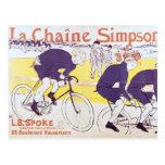 La cadena de Simpson, 1896 Postales
