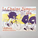 La cadena de Simpson, 1896 Póster