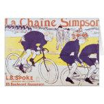 La cadena de Simpson, 1896 Tarjeta De Felicitación