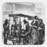 La Café-Parada de Londres Pegatinas Cuadradas Personalizadas