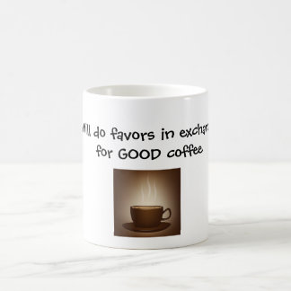 la café-taza, hará favores en el intercambio para  taza básica blanca
