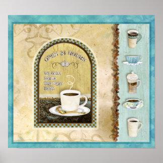 La cafetería abre 24 horas, Audrey Jeanne Roberts Póster