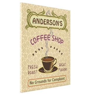La cafetería con la taza crea sus los propios impresión en tela