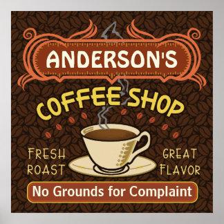 La cafetería con la taza crea sus los propios posters