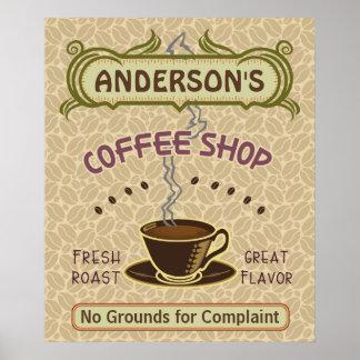 La cafetería con la taza crea sus los propios póster