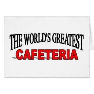 La cafetería más grande del mundo tarjeta de felicitación