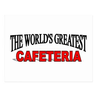 La cafetería más grande del mundo tarjetas postales