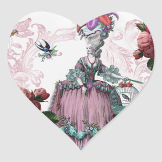 la cage aux oiseaux (The Birdcage) Heart Sticker