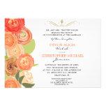 La caída abstracta del ranúnculo florece el boda i comunicados personalizados