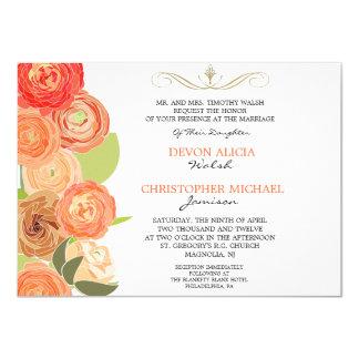La caída abstracta del ranúnculo florece el boda comunicados personales