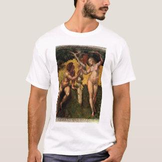 La caída - Adán y Eva por Raphael Sanzio Playera