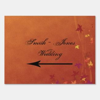 La caída Breezes señal de dirección del boda