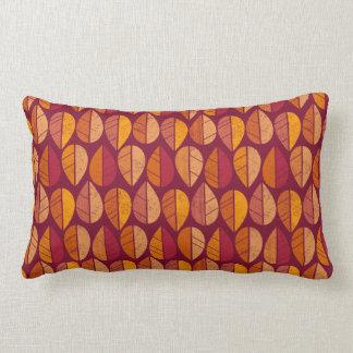 La caída colorea el modelo lumbar almohada